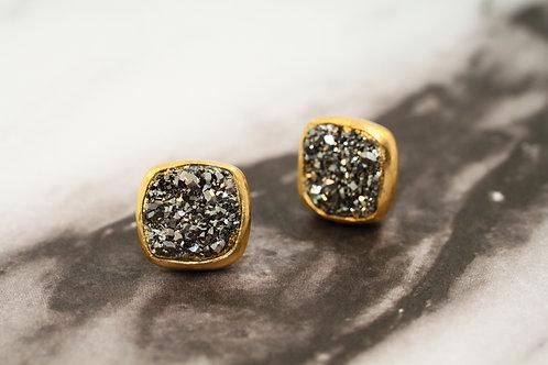 Noir Druzy Earrings