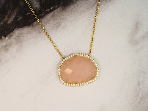 Rose Quartz Abstract Necklace