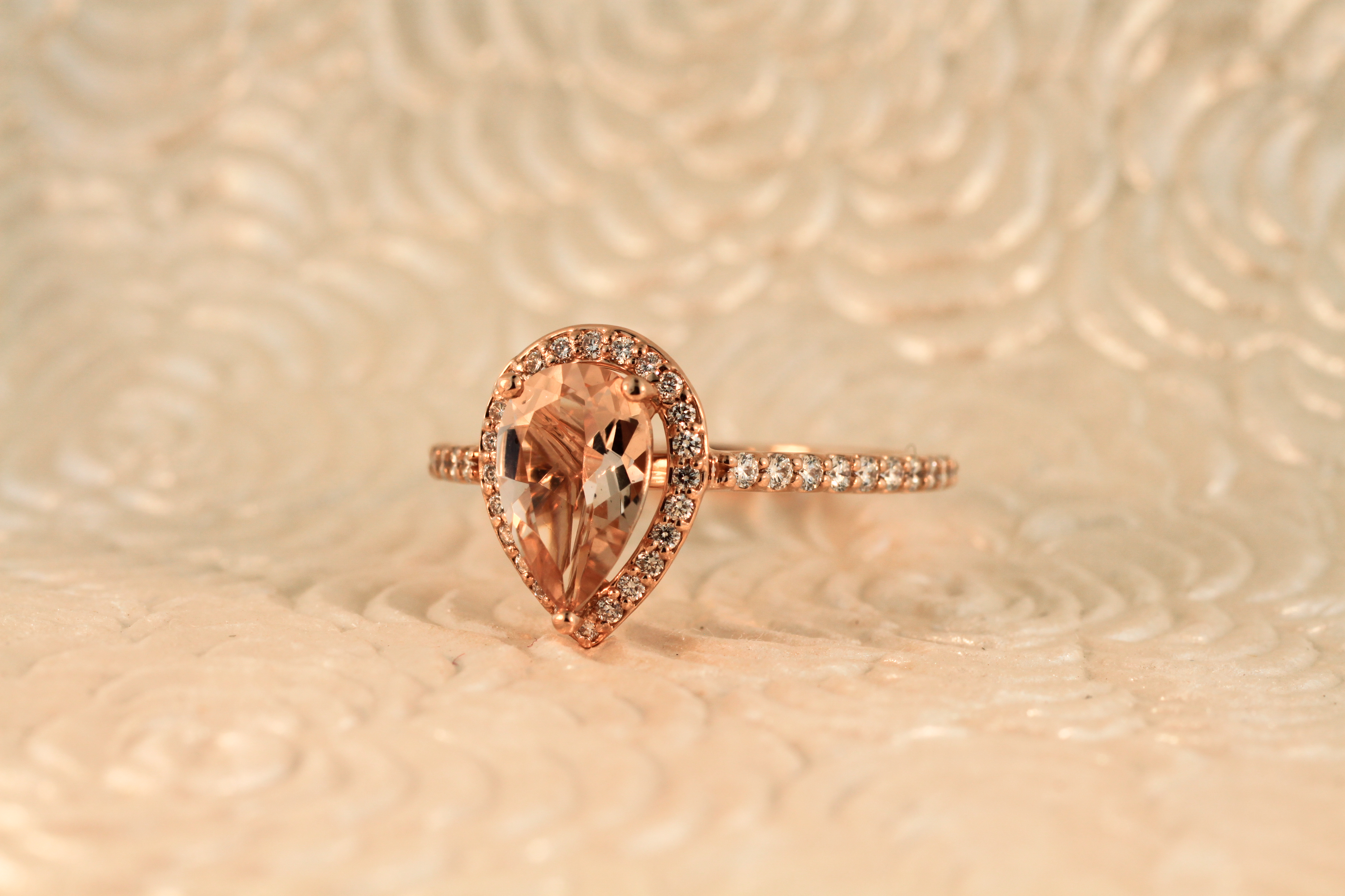 Morganite Custom Engagement Ring