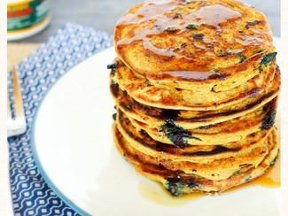 Gluten Free Blueberry Protein Pancakes
