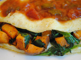 Sweet Potato & Spinach Omelet