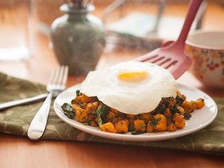 Sweet Potato Hash with Fried Egg