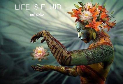 Life is Fluid.......not static