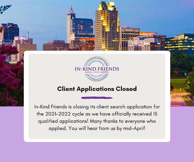 IKF client application website announcem