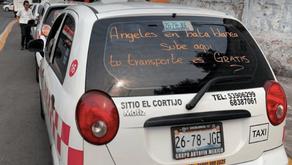 ¡APLAUSOS! Taxistas de Tlalnepantla ofrecen transporte gratis a médicos del IMSS
