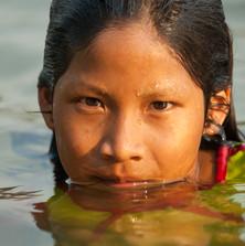 Kokodju Kayapó swimming in the Curuá River
