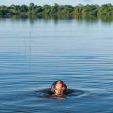 Yapirut Kaiabi; swimming in the Xingu River, sheer joy!