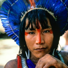 Ta'Kire Kayapó, photographed in 1989; he is now an important elder and friend