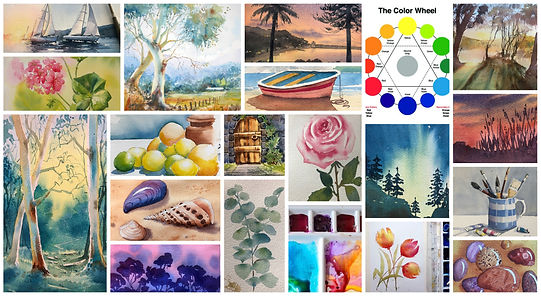 How to paint in watercolour art classes Sydney and online