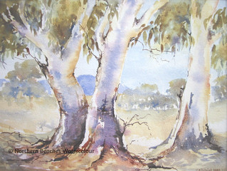 Watercolour Gum Trees - essence of Australia
