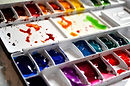 Watercolour paint in a palette recommended by Northern Beaches Watercolour