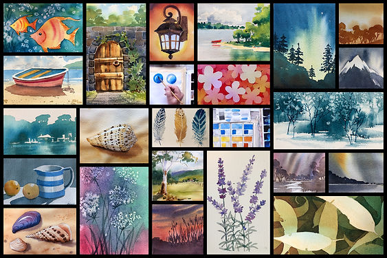 Watercolour courses painting classes tutorial online for beginners