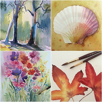 Learn Absolute Beginner watercolour painting online on zoom