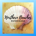 Northern Beaches watercolour logo bright