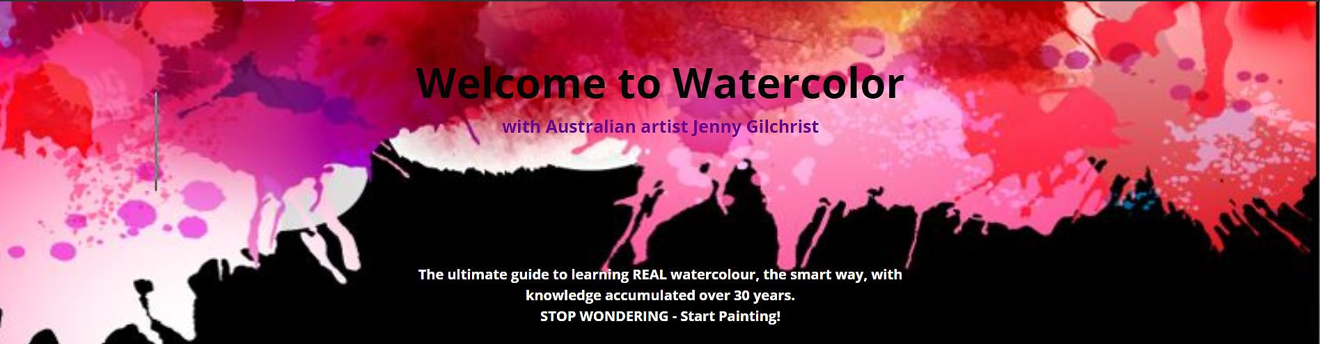 Online watercolour painting course with Jenny Gilchrist