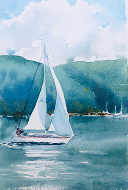 Sailing on Pittwater