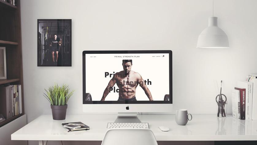 Primal Strength Plan UX/UI Web Design
