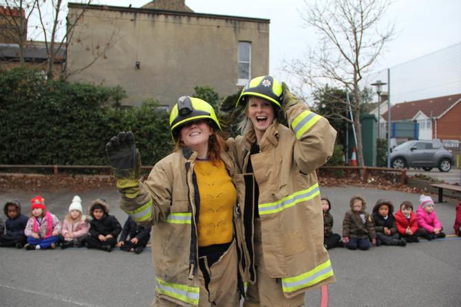 Fire Brigade visit Reception