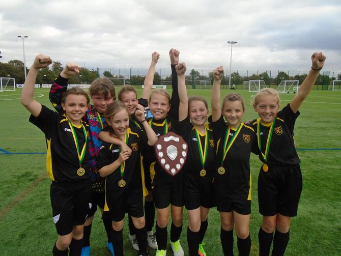 Girls football success