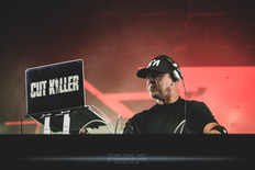 """The French DJ Anouar """"Cut Killer"""" Hajoui, live at Foreztival festival, Trelins, France, August 2019.  © Philippe """"Pippo"""" Jawor All rights reserved."""