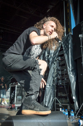 """The French industrial metal band Sidilarsen, live at Download Festival France, June 2018.  © Philippe """"Pippo"""" Jawor All rights reserved."""
