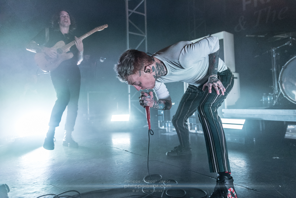 "The British punk rock band Frank Carter & the Rattlesnakes, live in Lyon, France, March 2018.  © Philippe ""Pippo"" Jawor All rights reserved."