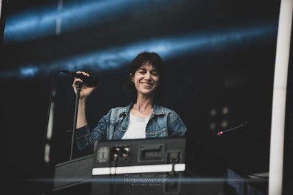 """The French pop artist Charlotte Gainsbourg, live at Beauregard Festival, Hérouville-Saint-Clair, France, July 2018  © Philippe """"Pippo"""" Jawor All rights reserved."""