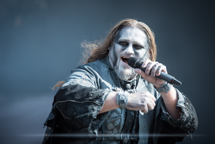 """The German power metal band Powerwolf, live at Download Festival France, June 2018.  © Philippe """"Pippo"""" Jawor All rights reserved."""