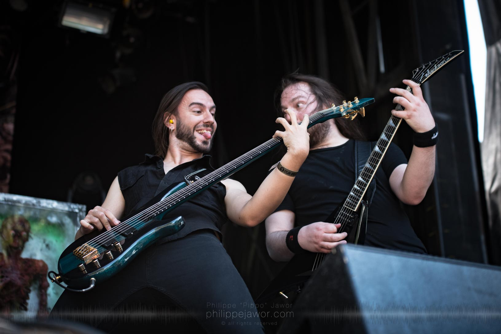 The Belgian brutal death metal band Aborted, live at Sylak Open Air festival, Saint Maurice de Gourdans, France, August 2017.  On assignment for Metal Obs' Magazine All rights reserved.