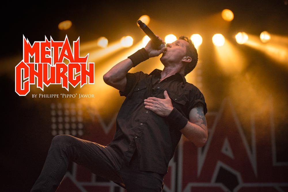 The American heavy metal band Metal Church live at Sylak Open Air festival, Saint Maurice de Gourdans, France, August 2017.  On assignment for Metal Obs' Magazine All rights reserved.