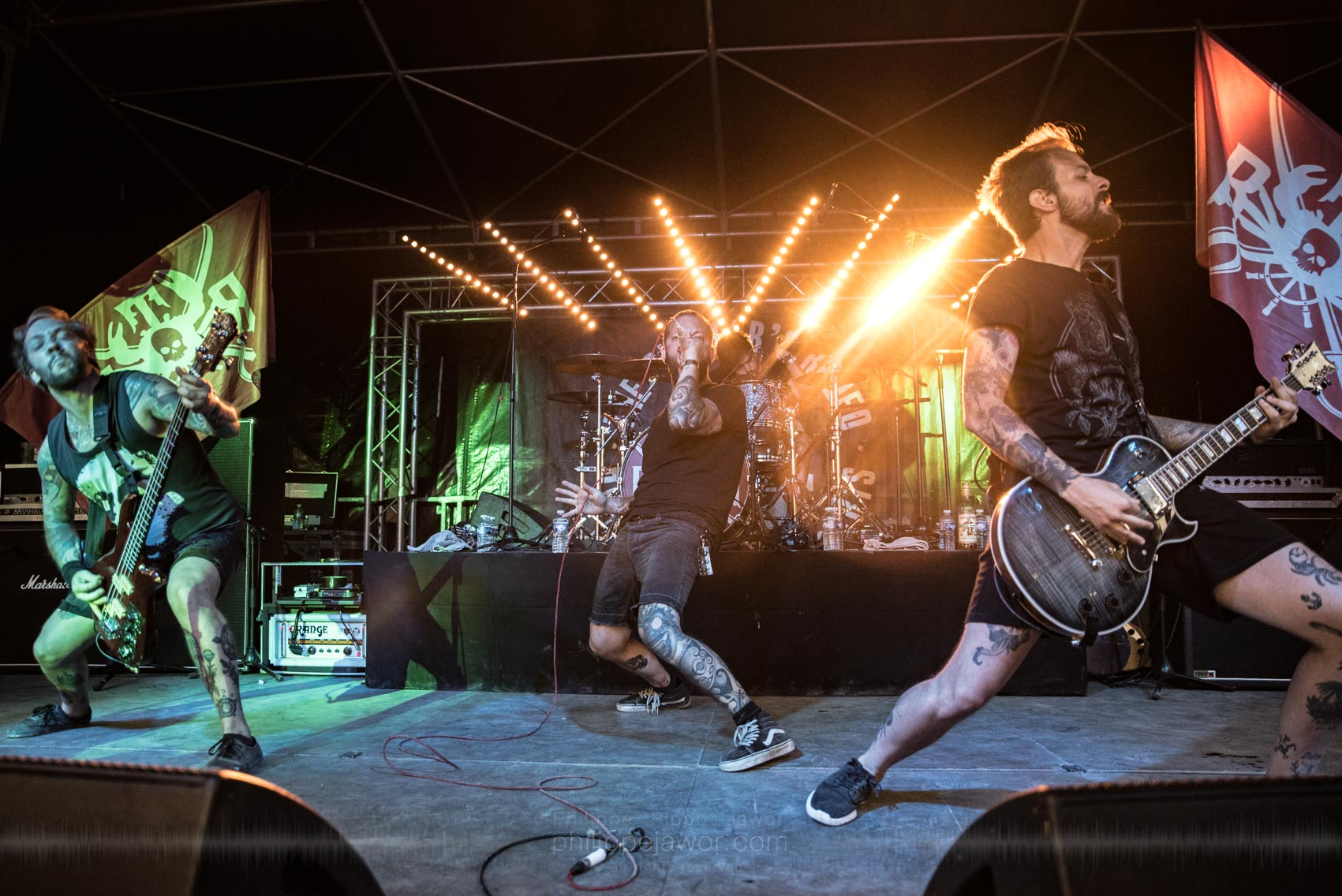The Butcher's Rodeo @ Sylak Open Air festival, Saint Maurice de Gourdans, August 2017.  On assignment for Metal Obs' Magazine All rights reserved.