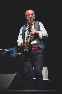 """The Serbian artist Goran Bregović and his Wedding and Funeral Orchestra, live at Foreztival, Trelins, France, August 2019.  © Philippe """"Pippo"""" Jawor All rights reserved."""