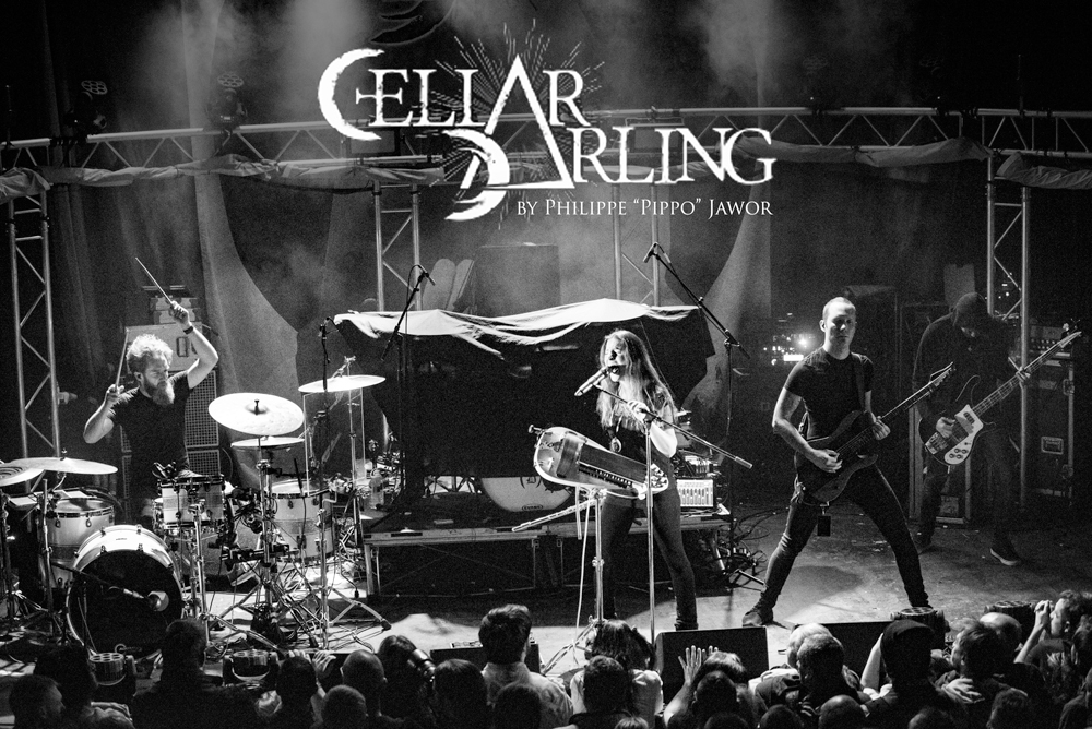 """The Swiss folk metal band Cellar Darling, live in Lyon, France, December 2017.  © Philippe """"Pippo"""" Jawor All rights reserved."""