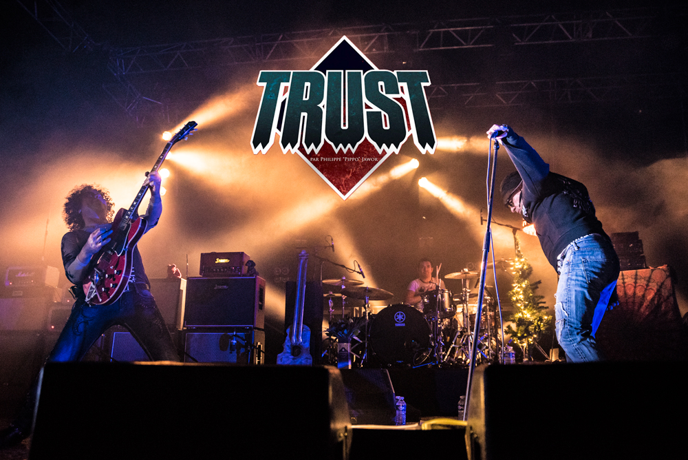 "The French hard rock band Trust, live in Lyon, France, December 2017.  © Philippe ""Pippo"" Jawor All rights reserved."
