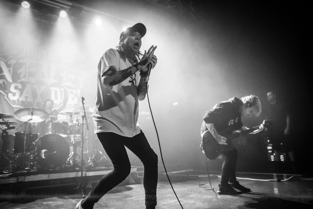 """The American deathcore band Sworn In, live in Lyon, France, with the Impericon Never Say Die! Tour, November 2017.  © Philippe """"Pippo"""" Jawor All rights reserved."""