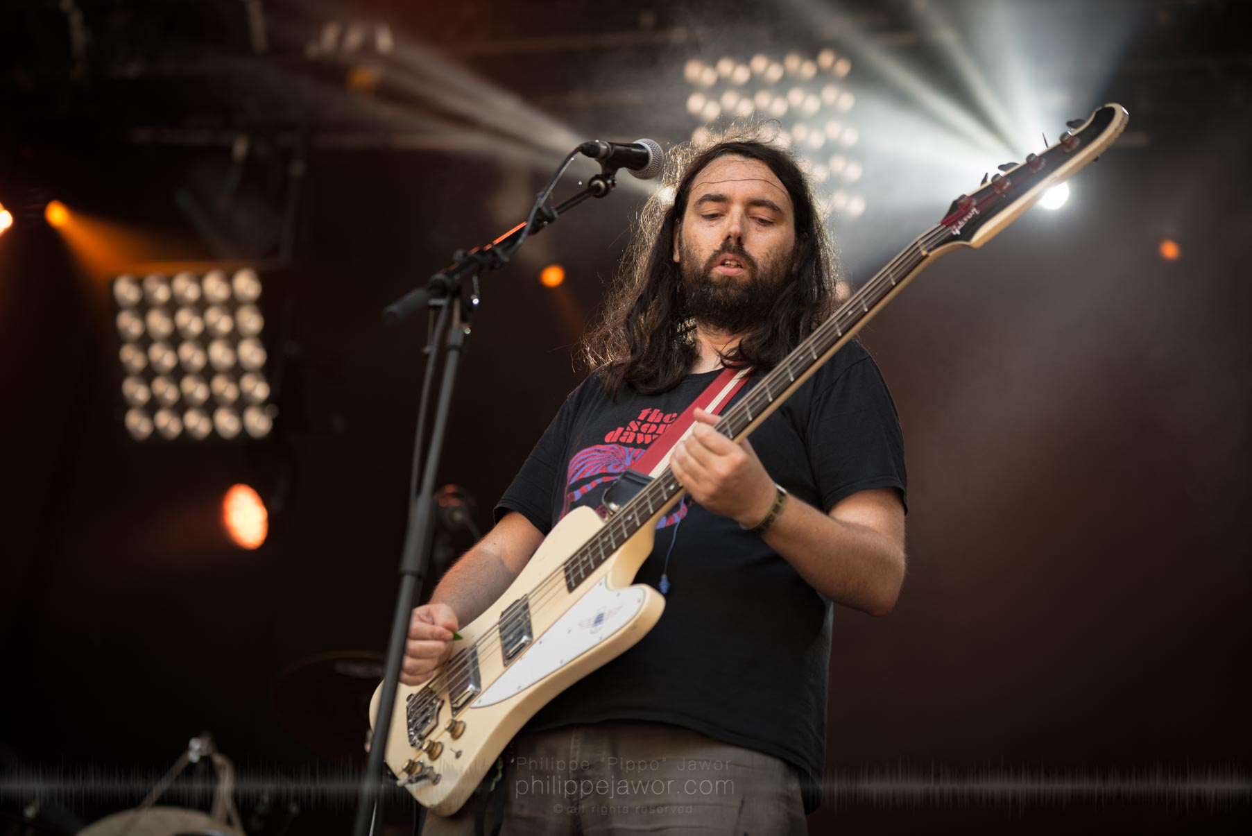 The French psychedelic stoner rock band Mars Red Sky live at Sylak Open Air festival, Saint Maurice de Gourdans, France, August 2017.  On assignment for Metal Obs' Magazine All rights reserved.