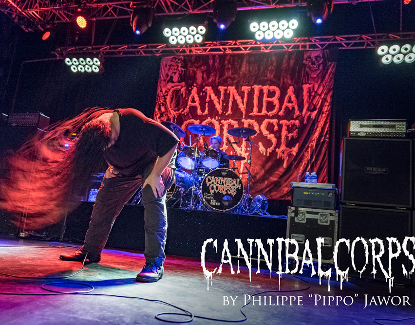 "The American death metal band Cannibal Corpse, live in Saint-Étienne, France, March 2018.  © Philippe ""Pippo"" Jawor All rights reserved."