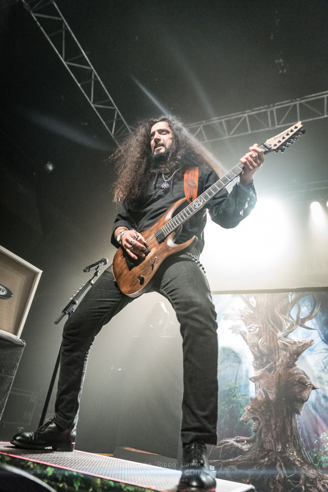 "Asim Searah, guitarist of the Finnish heavy metal band Wintersun, live in Lyon, France, January 2018.  © Philippe ""Pippo"" Jawor All rights reserved."