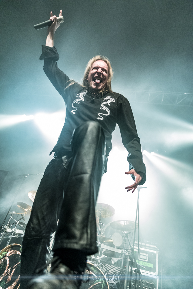 "Jari Mäenpää, lead singer of the Finnish heavy metal band Wintersun, live in Lyon, France, January 2018.  © Philippe ""Pippo"" Jawor All rights reserved."