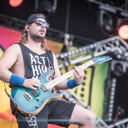 """The Scottish pirate metal band Alestorm, live at Download Festival France, June 2018.  © Philippe """"Pippo"""" Jawor All rights reserved."""