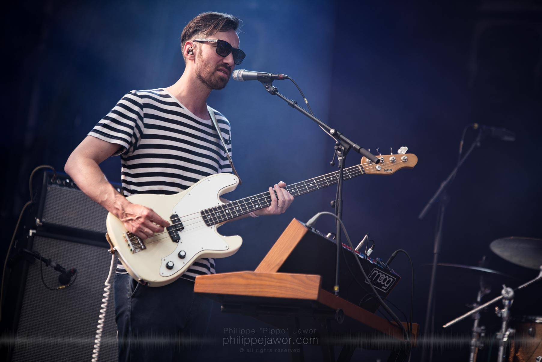 The Belgian indie pop band Girls in Hawaii, live at Rock en Seine festival, Paris, France, August 2017.  On assignment for ZYVA Magazine All rights reserved.