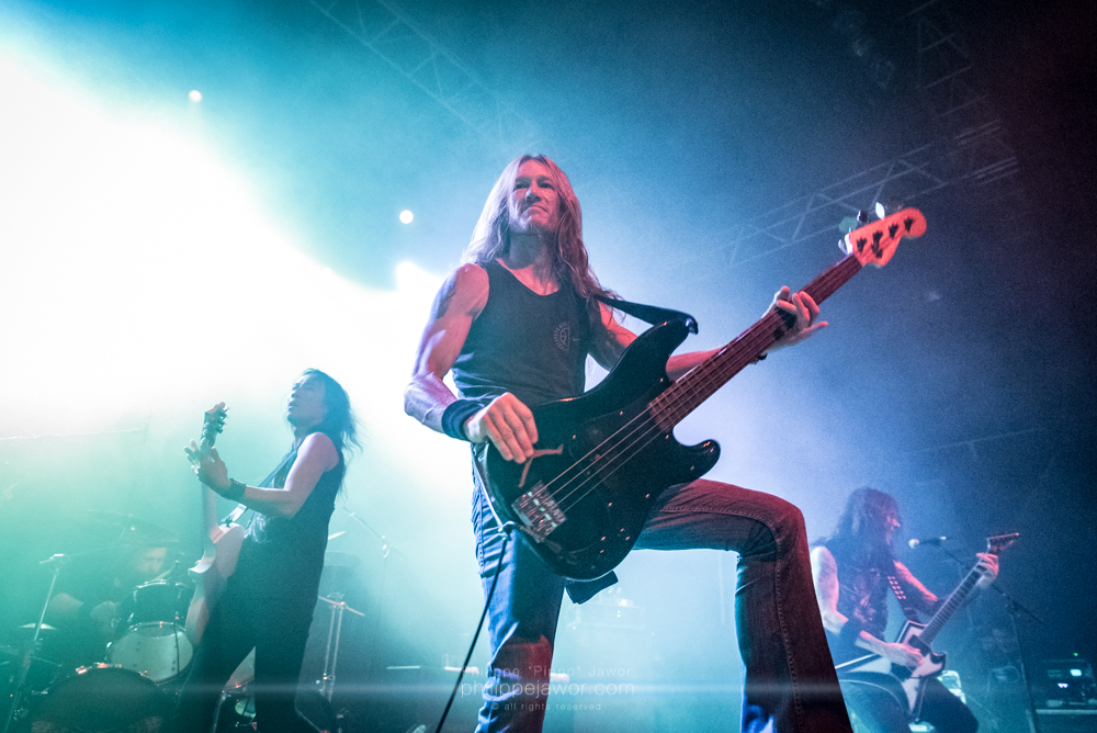 """The American thrash metal band Death Angel, live in Lyon, France, December 2017.  © Philippe """"Pippo"""" Jawor All rights reserved."""