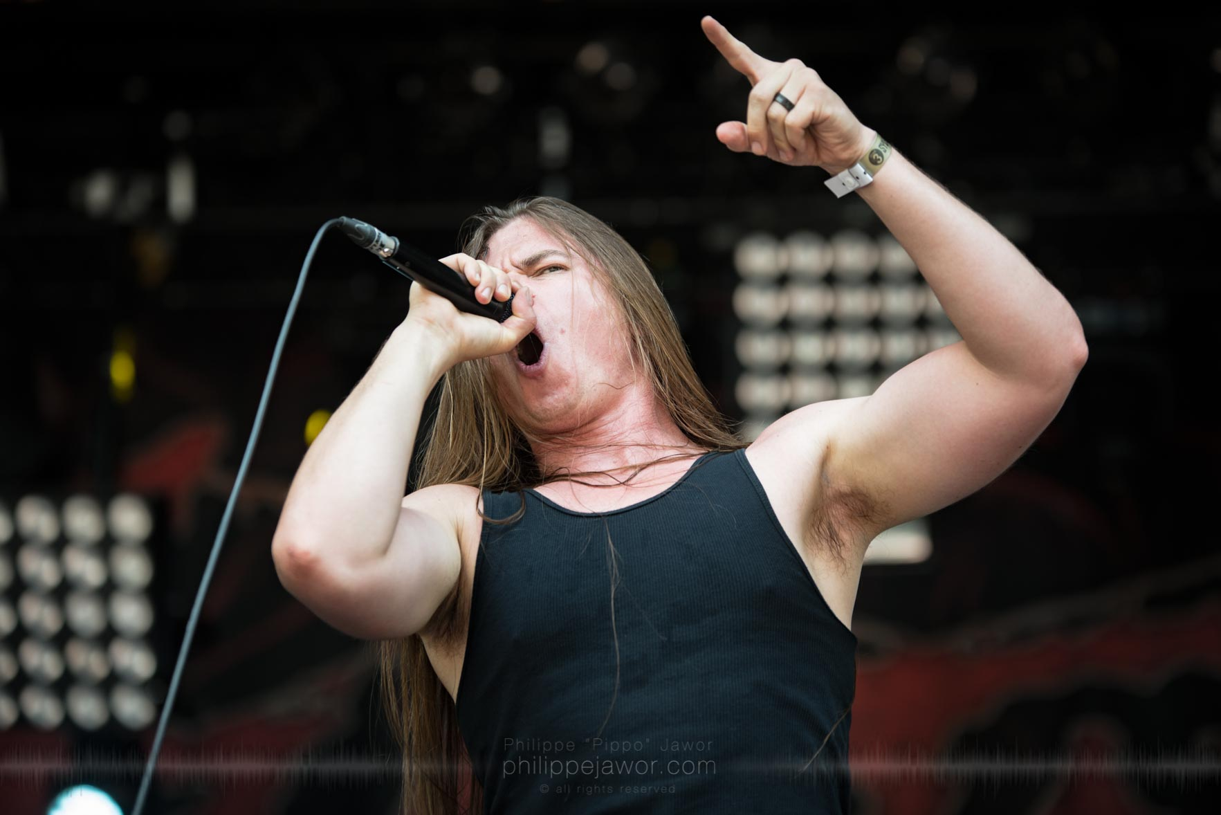 The Canadian technical death metal band Cryptopsy live at Sylak Open Air festival, Saint Maurice de Gourdans, France, August 2017.  On assignment for Metal Obs' Magazine All rights reserved.