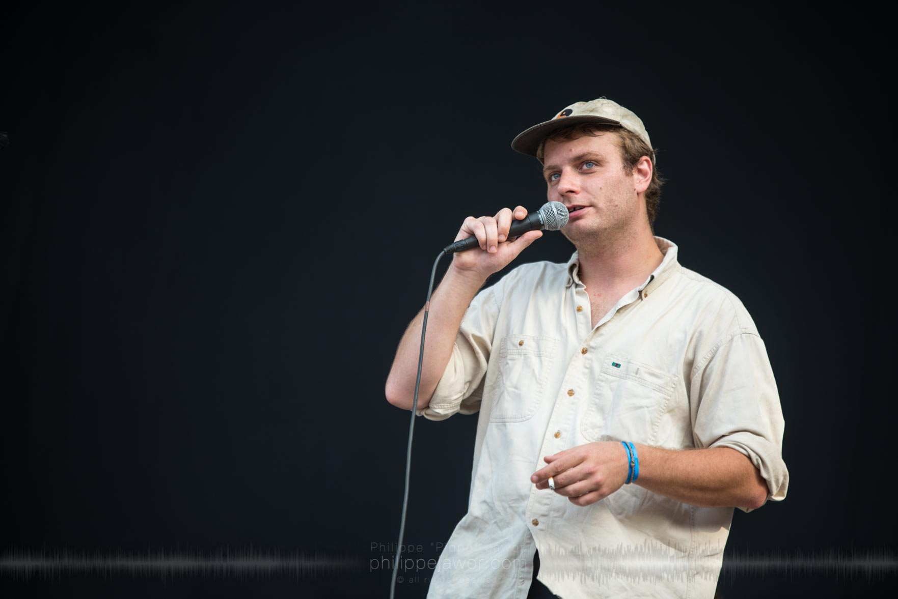 """The American indie rock artist McBriare Samuel Lanyon """"Mac"""" DeMarco, live at Rock en Seine festival, Paris, France, August 2017.  On assignment for ZYVA Magazine All rights reserved."""
