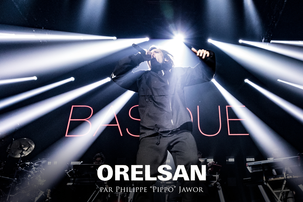 "The French rapper Aurélien ""Orelsan"" Cotentin, live in Lyon, France, February 2018.  © Philippe ""Pippo"" Jawor All rights reserved."