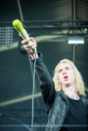 """The American post hardcore band Underoath, live at Download Festival France, June 2018.  © Philippe """"Pippo"""" Jawor All rights reserved."""