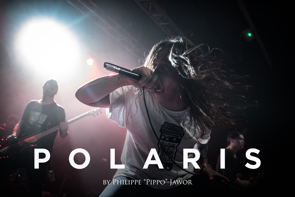 """The Australian metalcore band Polaris, live in Lyon, France, with the Impericon Never Say Die! Tour, November 2017.  © Philippe """"Pippo"""" Jawor All rights reserved."""