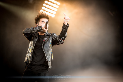 """The Japanese electro metal band Crossfaith, live at Download Festival France, June 2018.  © Philippe """"Pippo"""" Jawor All rights reserved"""