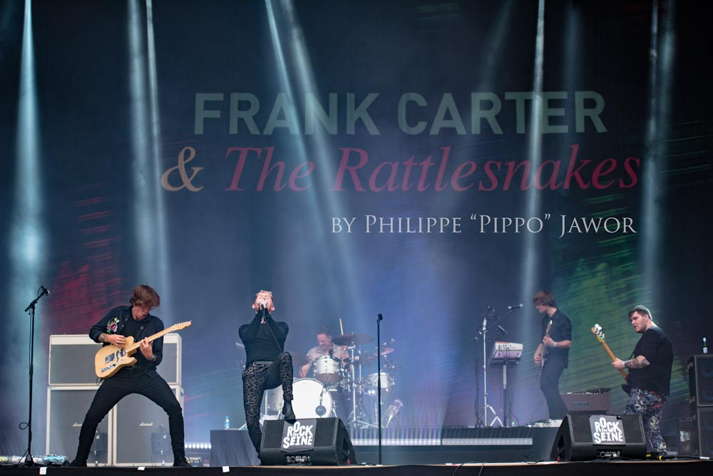 The British punk rock band Frank Carter & the Rattlesnakes, live at Rock en Seine festival, Paris, France, August 2017.  On assignment for ZYVA Magazine All rights reserved.