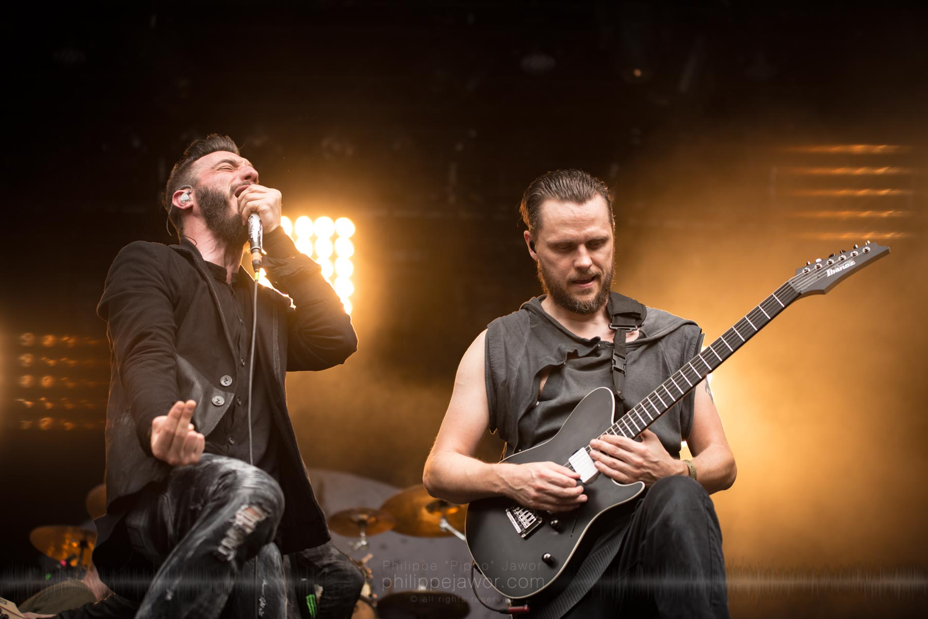 The German metalcore band Caliban live at Sylak Open Air festival, Saint Maurice de Gourdans, France, August 2017.  On assignment for Metal Obs' Magazine All rights reserved.